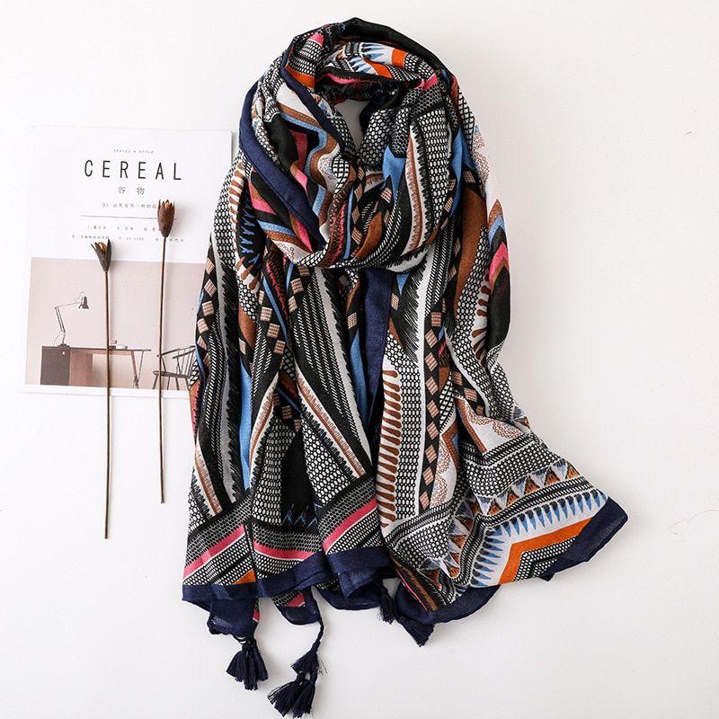 c630a3981 hijab scarf: SALE Women Scarf Geometric Large Blanket Wrap Fash ...