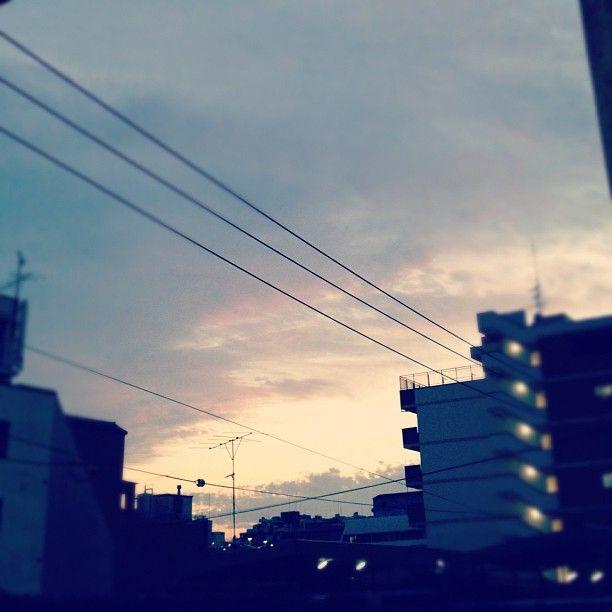 陽がくれるのが、早くなってきた。秋ですね~ - @comfy- #webstagram