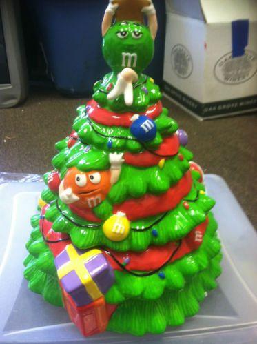 MM'S Christmas Tree Cookie Jar