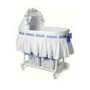 Amazoncom Burlington Baby Bassinet Combo With Baskets White Baby
