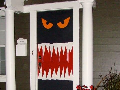 Home Jelly Users Are Sweet On Halloween Door Decor HomeJelly - halloween decorations for the office
