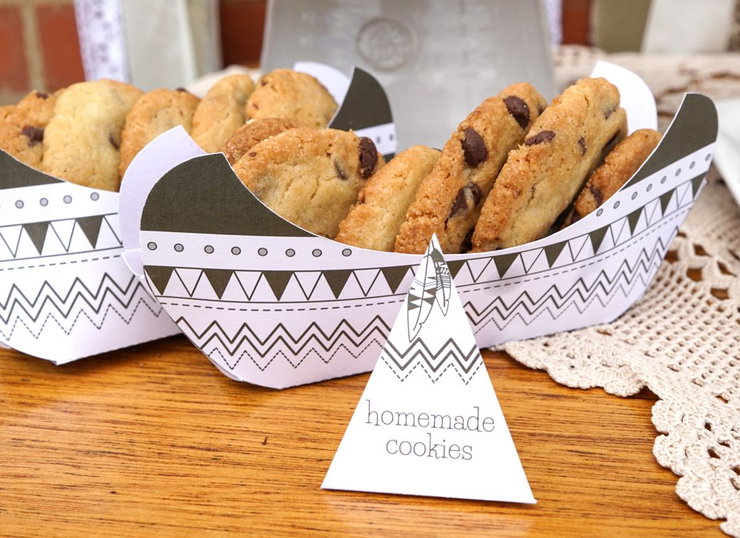 Tribal birthday party 3d canoe diy canoe snack holder tribal teepee party homemade cookies in the cutest canoe which you can print and make yourself solutioingenieria Choice Image