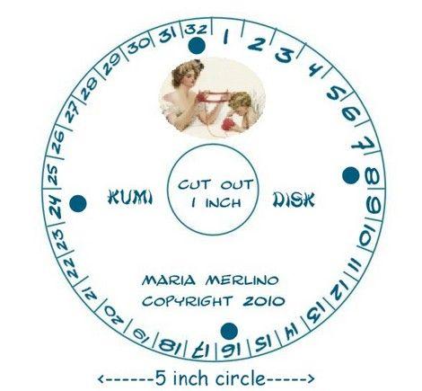 Kumihimo Japanese Braiding Disk Loom Wheel Template | Bracelets ...