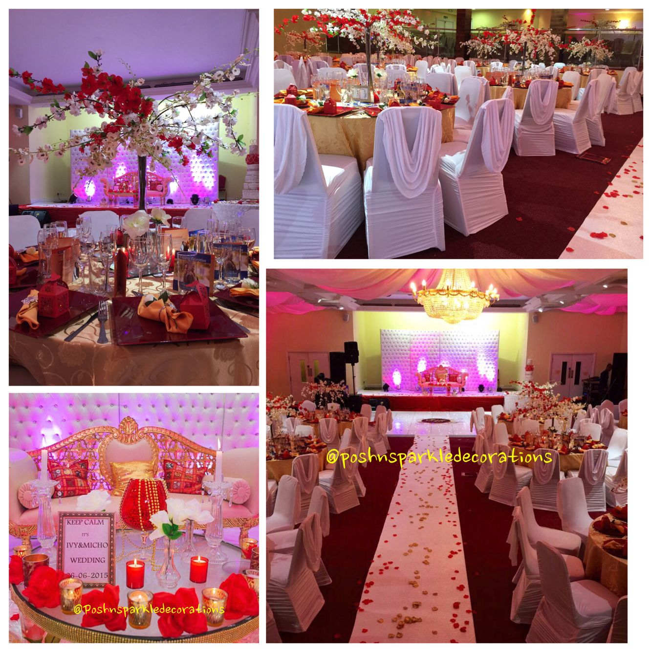 Wedding decorations red  Stunning red Nd gold theme itus all in the details  Wedding