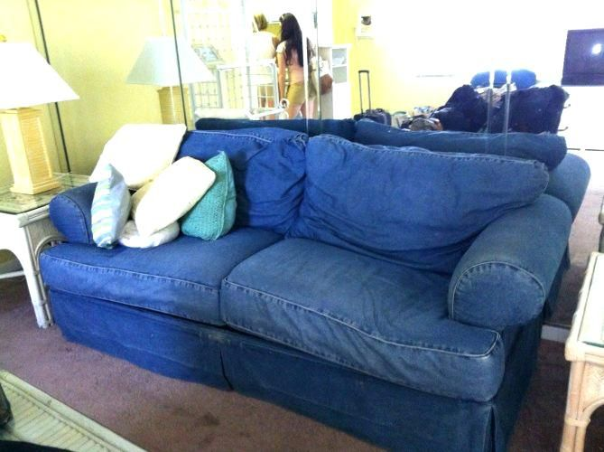 Denim Couch Slipcover Slipcovers Sofa Cover With Design Image Regarding 6