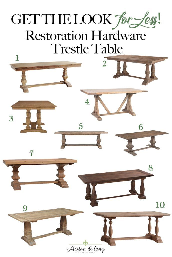 Best Restoration Hardware Style Farmhouse Dining Tables - for Less!