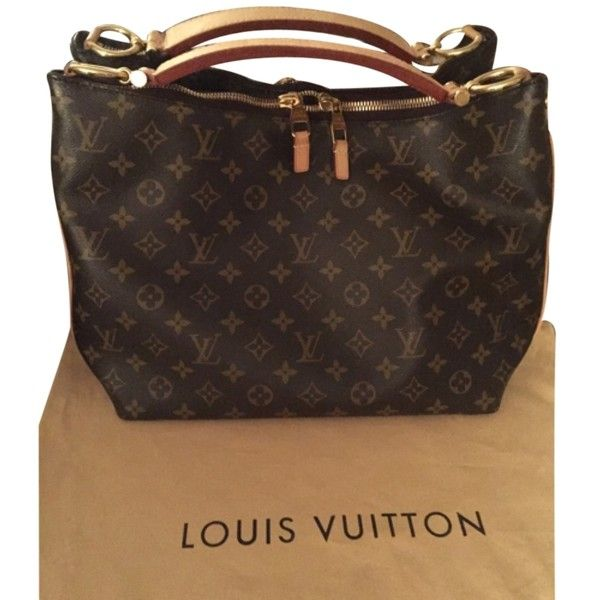 81433cbab273 Pre-owned Louis Vuitton Sully Pm Shoulder Bag (9.215 DKK) ❤ liked on  Polyvore featuring bags