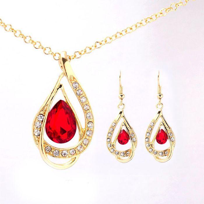 CsajosCuccok bizsu piros és arany ékszer ajándék