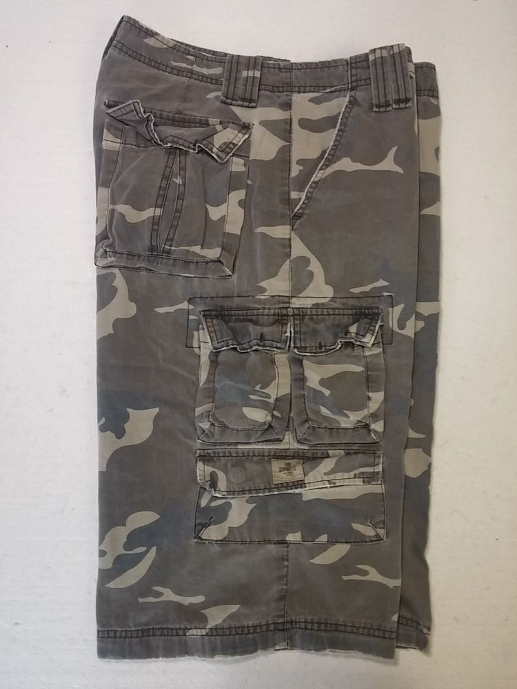 96604df1a1 For Sale Lee Dungarees Camo Mens 30 Extra Long Cotton Cargo Shorts Zipper  Fly 3026 #Lee #CargoShorts