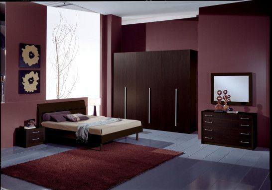 Bedroom Great Design Of The Bedroom Having Dark Red Maroon Wall