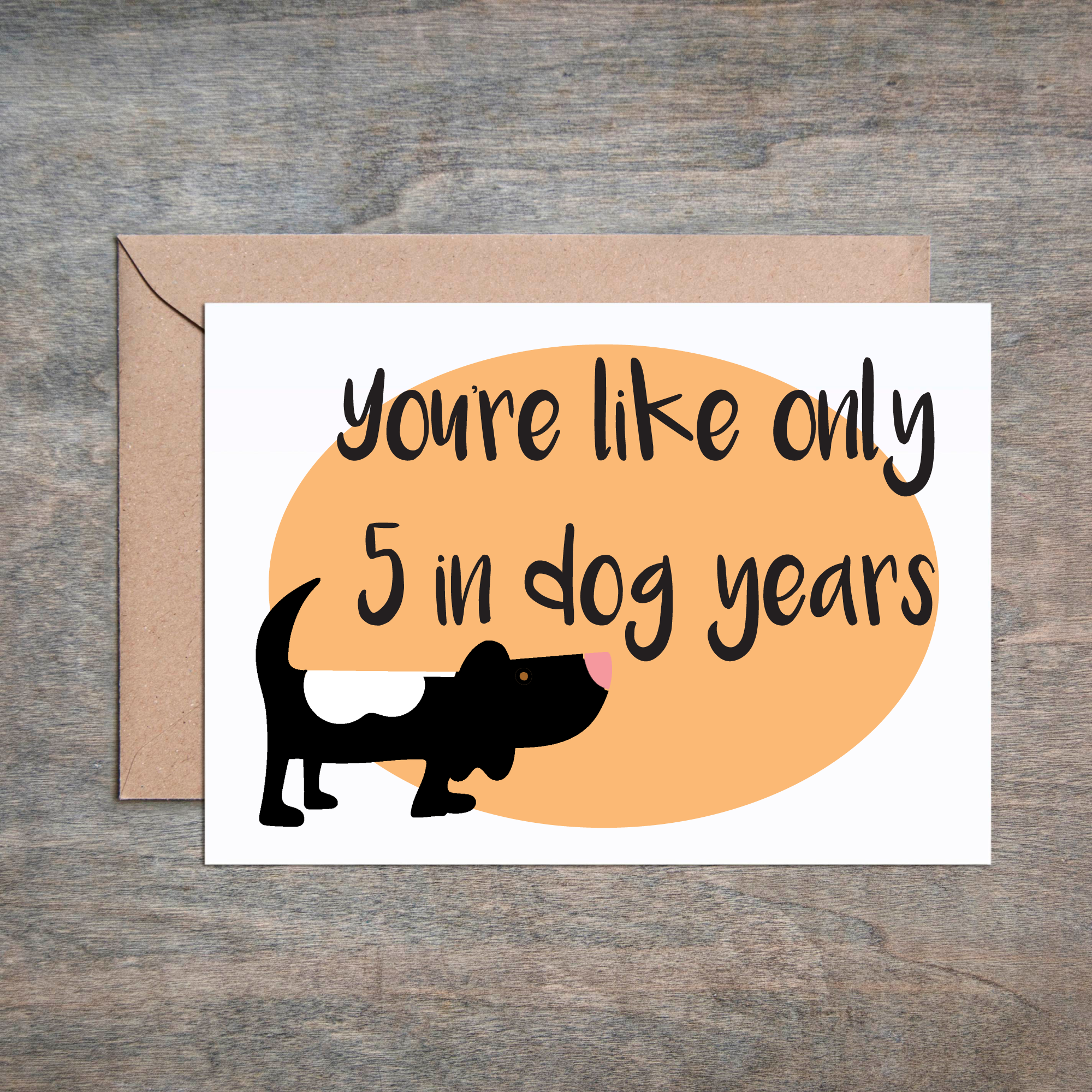 Funny Birthday Card Cardfriend Best Friend Happy Sister Adult Dog Years