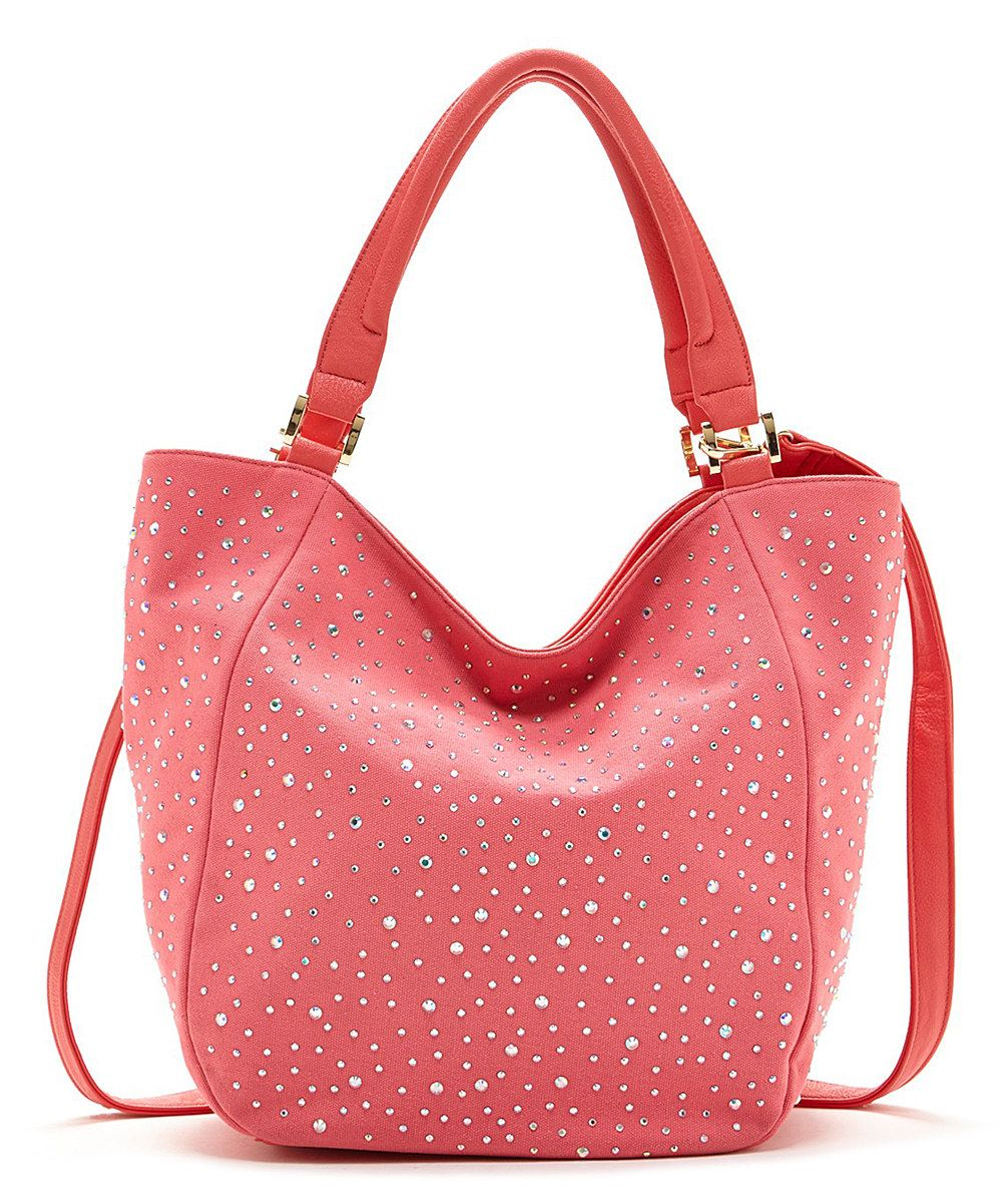 Look at this Watermelon Sparkle Crystal Tote on #zulily today!