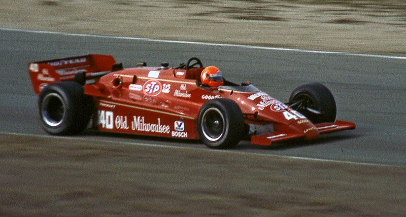 Bruno Giacomelli - March 84C Cosworth - Patrick Racing - Cribari Wines 300K - 1984 PPG Indy Car World Series, round 15