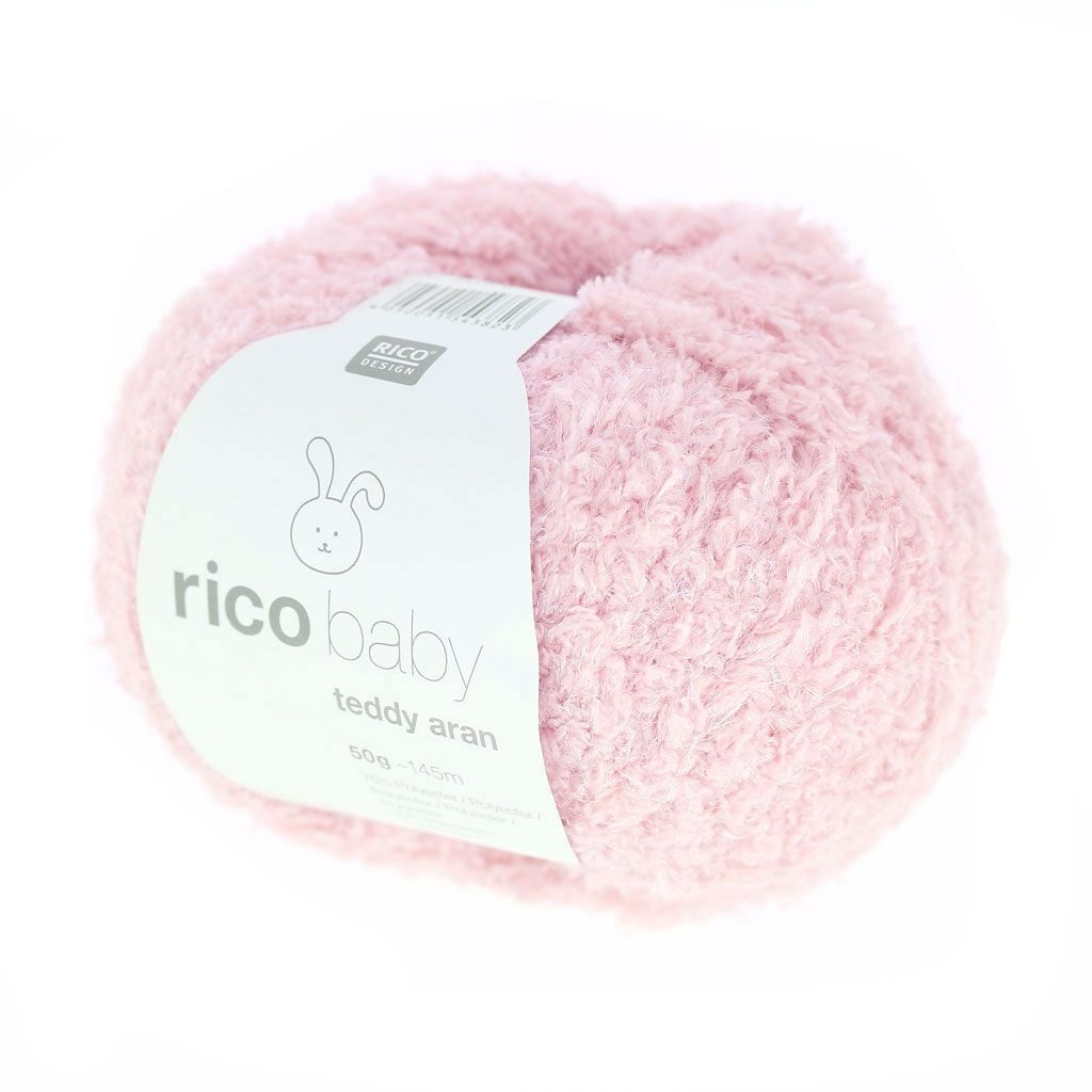 Rico Baby Wolle.Wolle Rico Baby Teddy Aran Baby Rosa X50g Wool Knitting