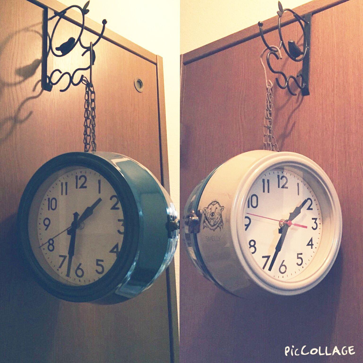 100均 ドアフックのインテリア実例 Roomclip ルームクリップ 時計