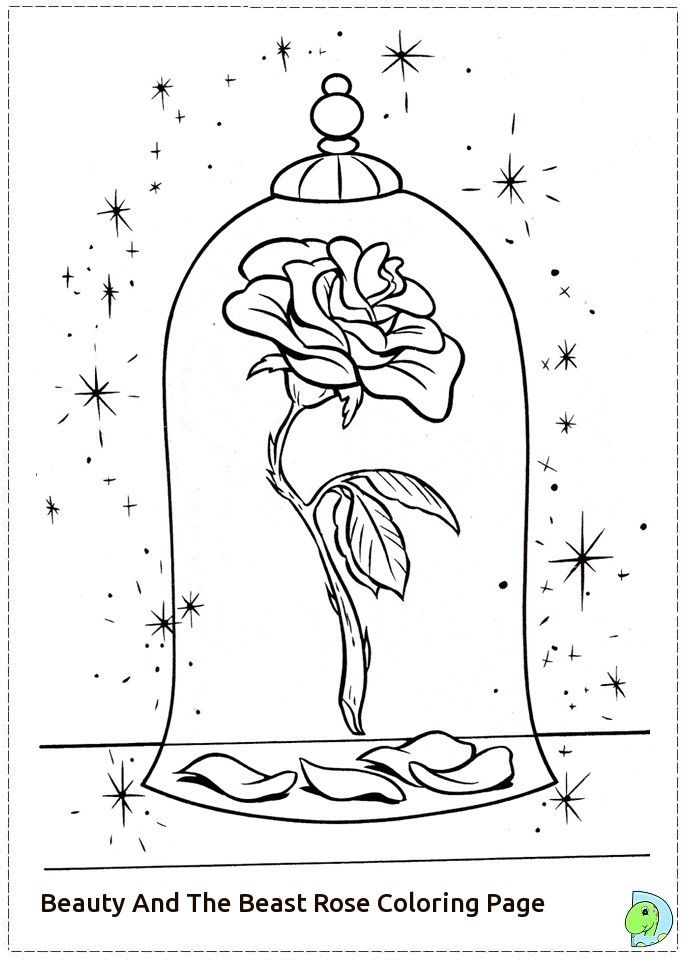 beauty and the beast rose coloring pages - free coloring pages of beauty and the beast rose places