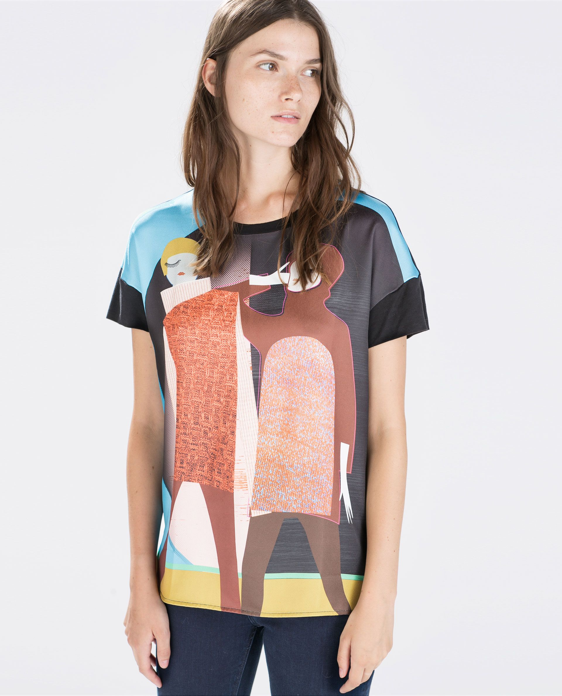 45609702 Image 1 of 60'S GIRLS T-SHIRT from Zara | things to wear | Printed ...