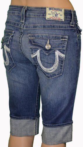 True Religion Brand Women` s Knee Length Jean Shorts $119.99 | My ...