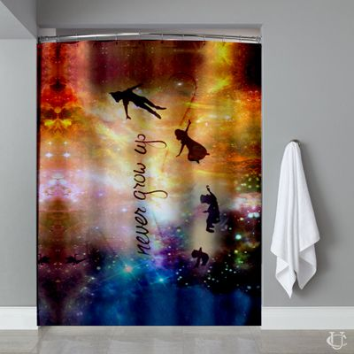 Disney New Peter Pan Quote Shower Curtain