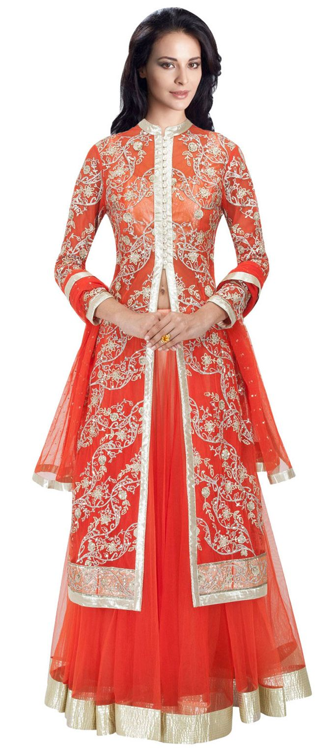 155755: Red and Maroon color family Long Lehenga Choli. | Indian ...