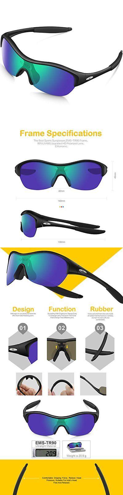 9a151b9098 Sunglasses 122340  Torege Tr90 Flexible Kids Sports Sunglasses Polarized  Glasses For Junior Boys -