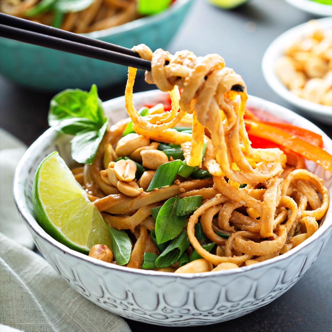 Spicy Peanut Noodles #peanutrecipes