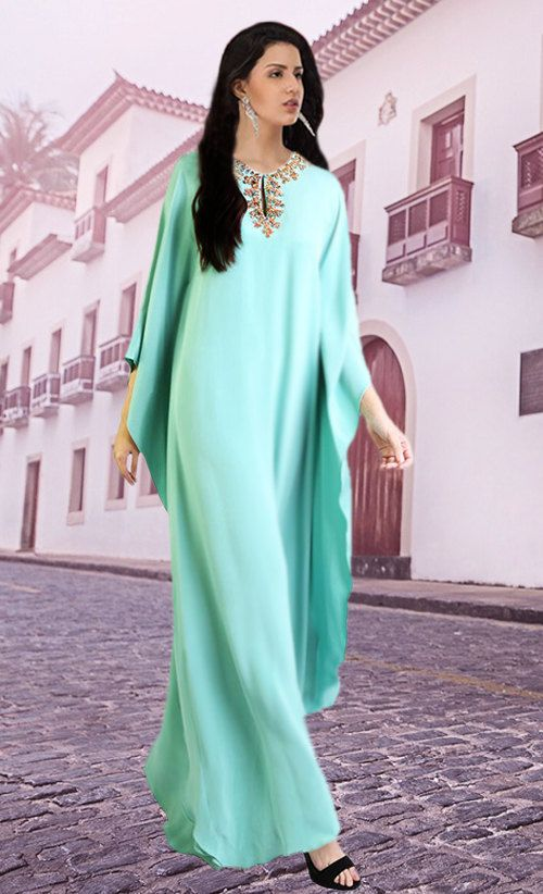 Abaya Maxikleid Kaftan arabisch Orient Kleid Jellabiya Jellaba Djelaba Galabia