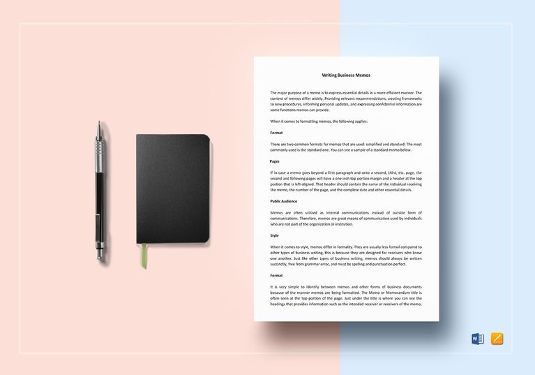 Memo Templates For Word Business Memo Template  Business Memo And Template