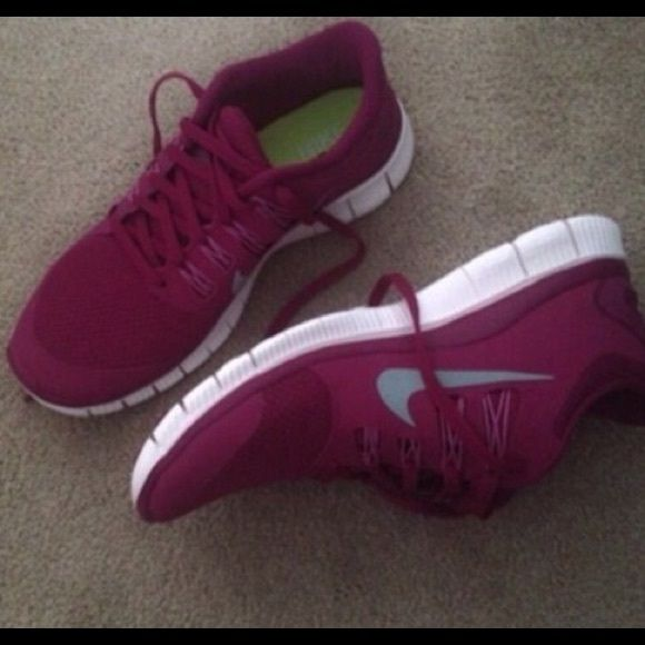 iso nike free maroon tes running shoes and nike