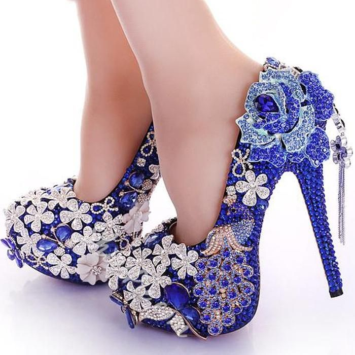 4000f97efa4 Shoespie Rhinestone Color Contrast Bridal Shoes - Was And Now - online  shopping with discounted prices