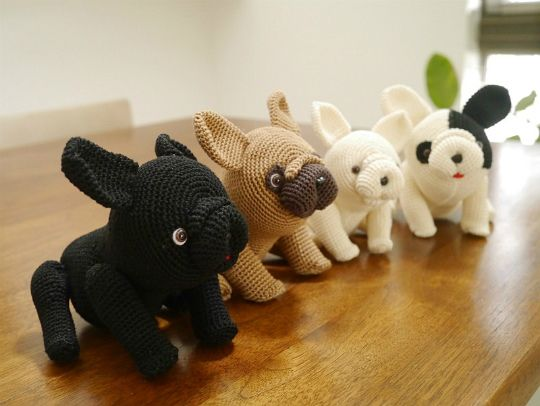 Amigurumi French Bulldog I Really Want For Christmas Pinterest