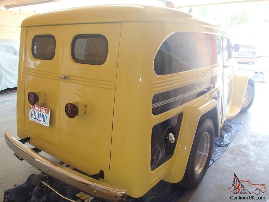 1950 willys sedan delivery street rod, hot rod,gasser panel truck ...