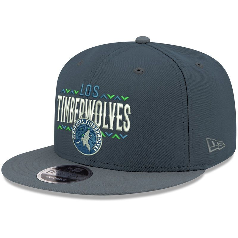 official photos 5f826 e937f Minnesota Timberwolves New Era Noches 9FIFTY Adjustable Hat – Charcoal