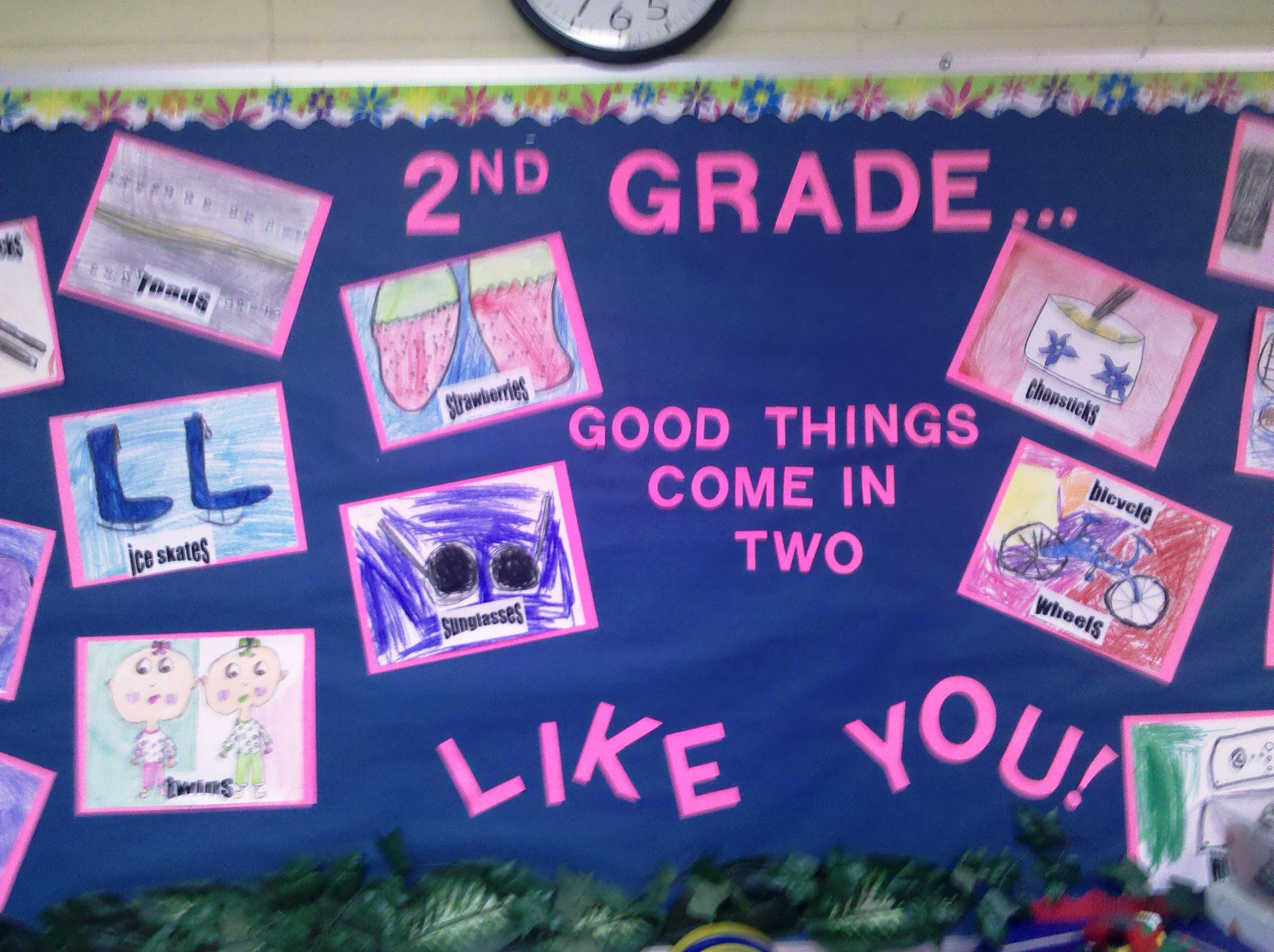 First Week Of School Good Things Come In Two Grade 2