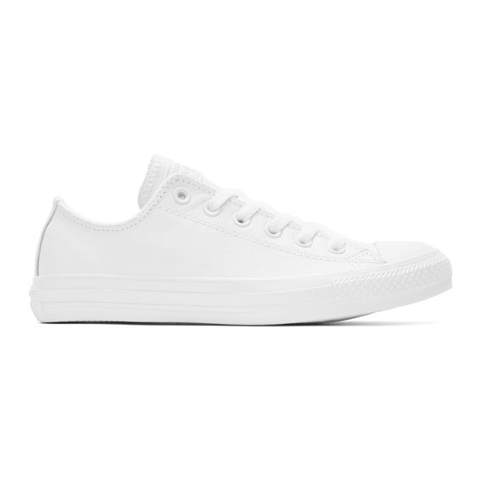 classic detailed pictures reliable quality CONVERSE White Leather Chuck Taylor All-Star Sneakers ...