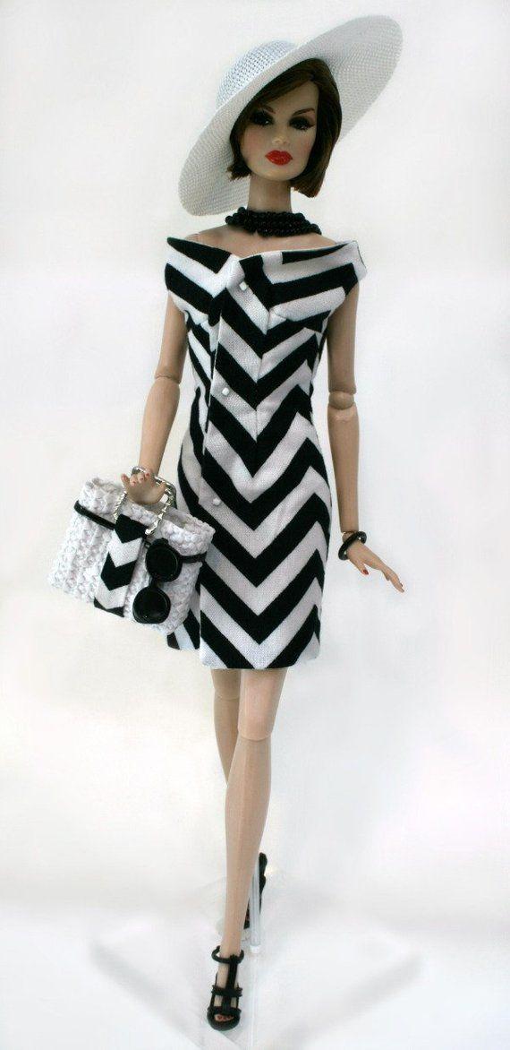 Summer Dress and Handbag for Fashion Royalty Dolls #dollhats