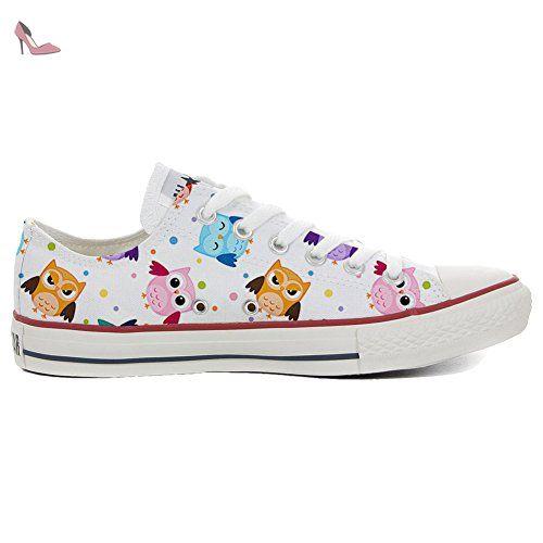 Converse Customized Adulte - chaussures coutume (produit artisanal) Tiny Owls size 38 EU I8rBq5Iq