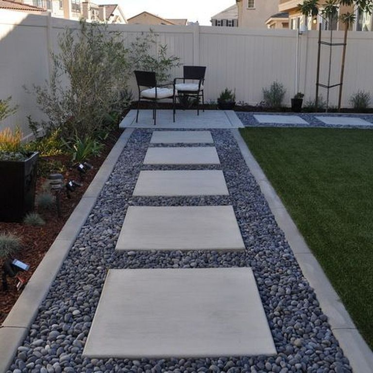 20 Modern Landscaping Design Ideas With Stone Modern Garden Landscaping Backyard Landscaping Designs Modern Landscaping