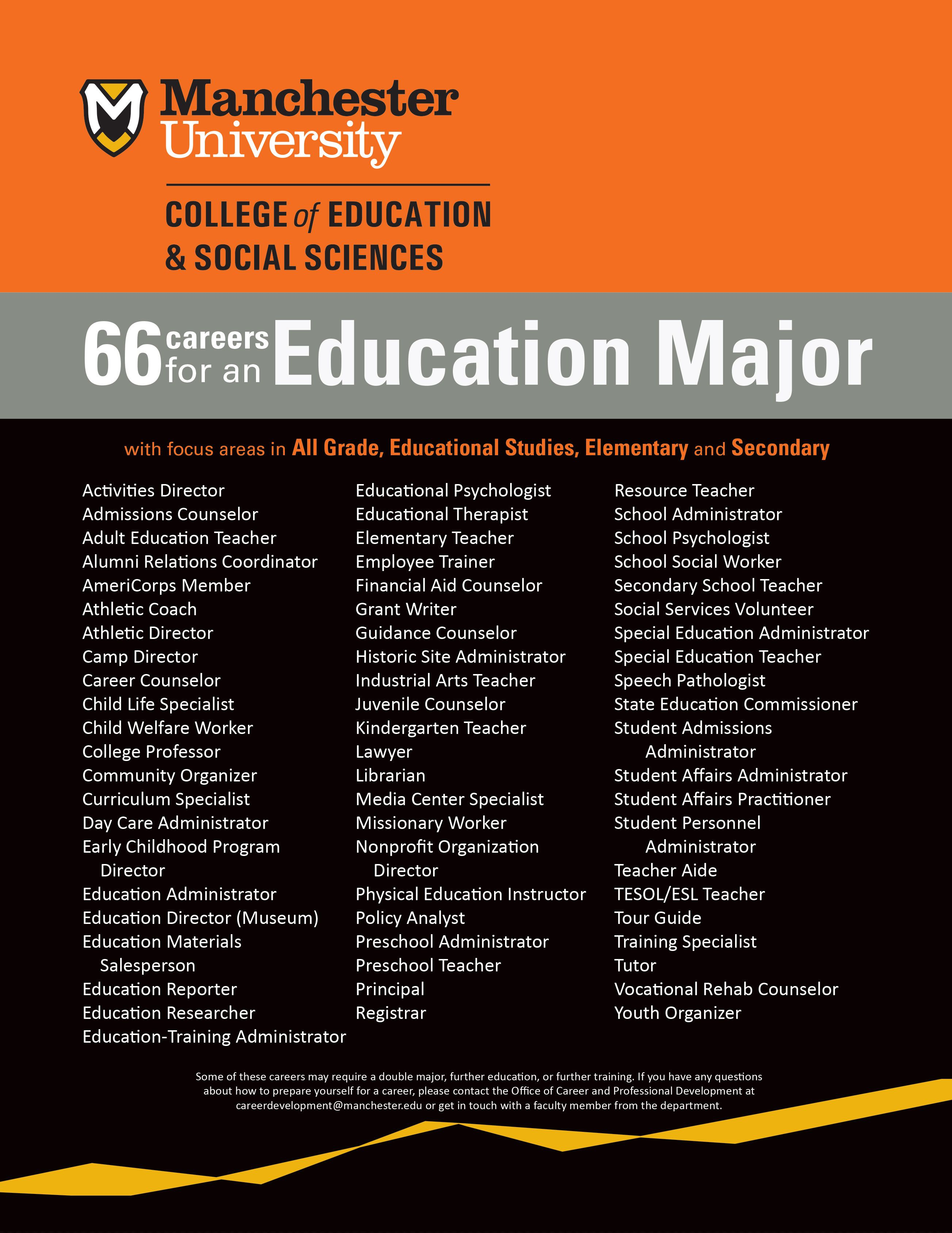 Why Should I Study Education 66 Potential Careers For An