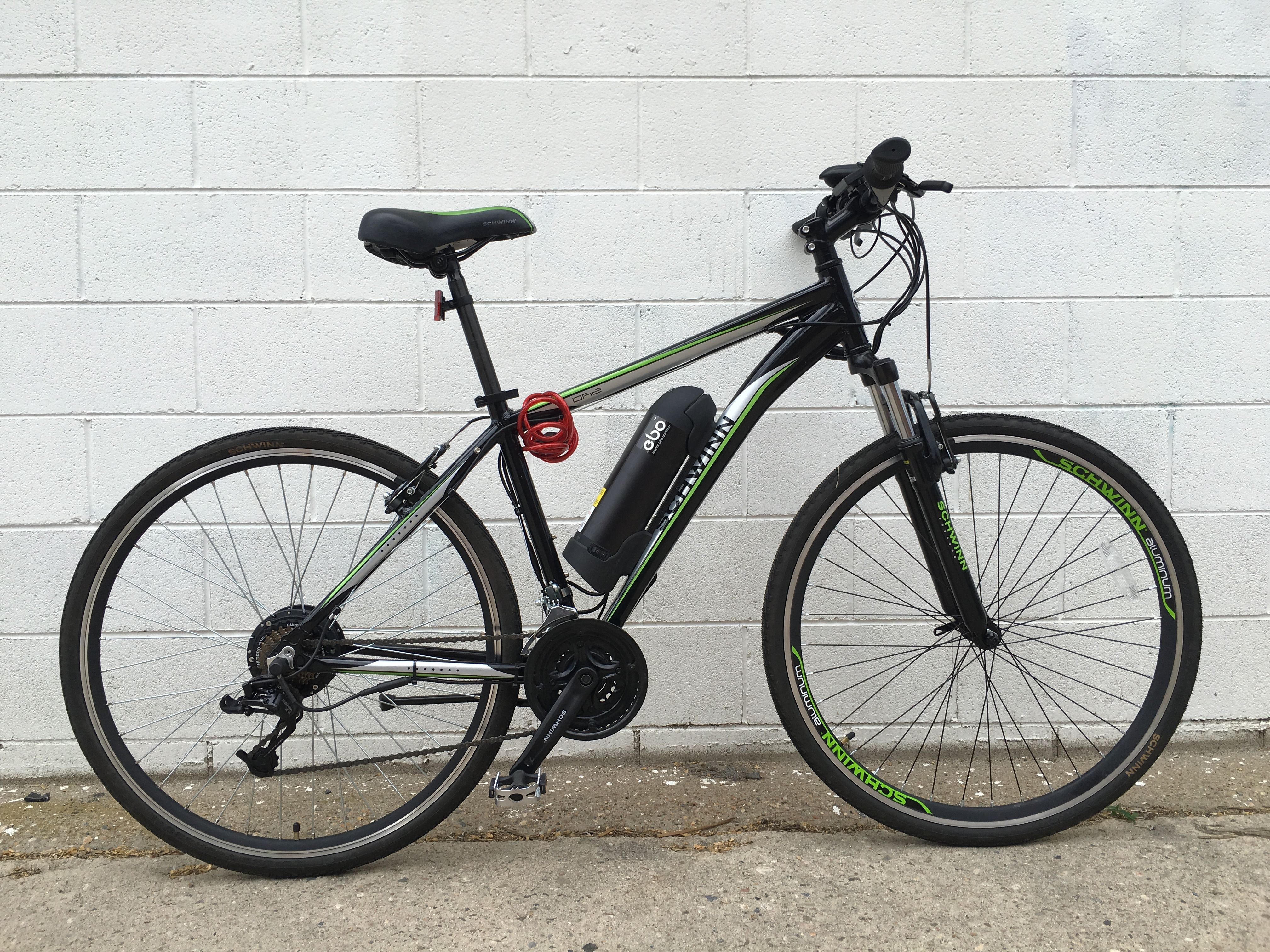 EBO Phantom electric bike kit installed on a Schwinn OR2