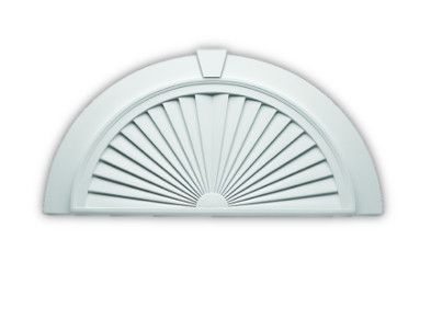 Fypon polyurethane 7 panel arch pediment with sunburst for Fypon window pediments