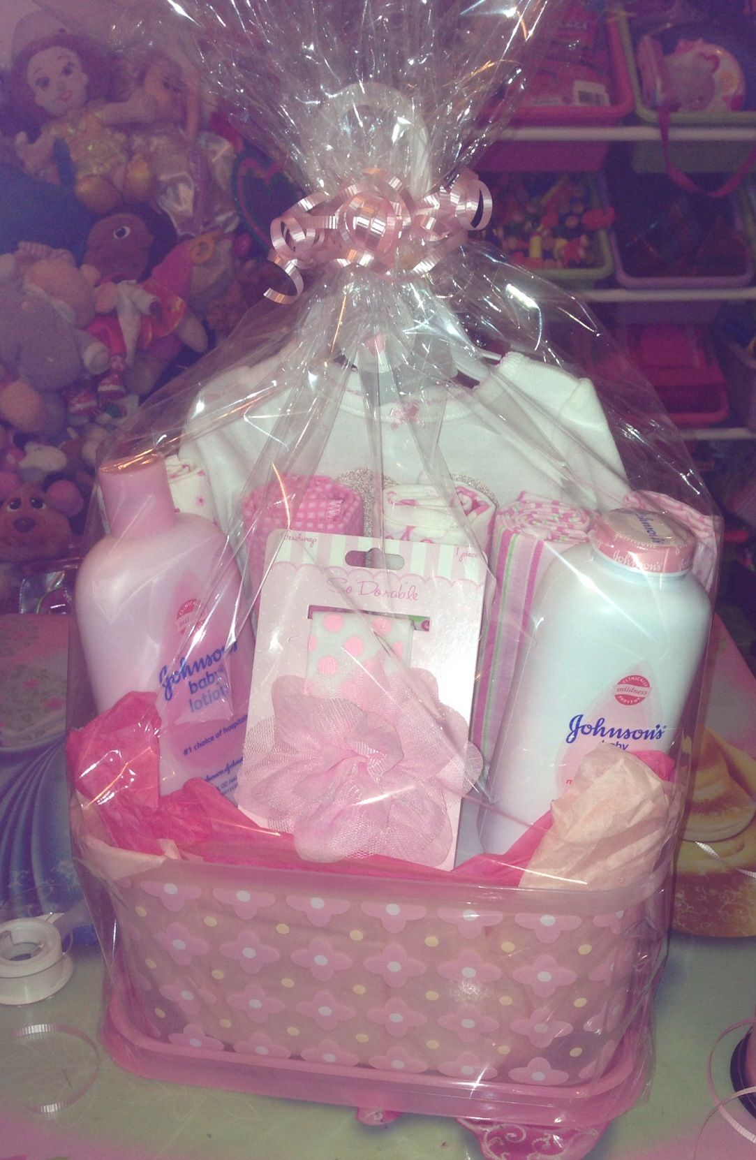 Diy baby shower gift basket for a girl diy ideas pinterest diy baby shower gift basket for a girl solutioingenieria Gallery
