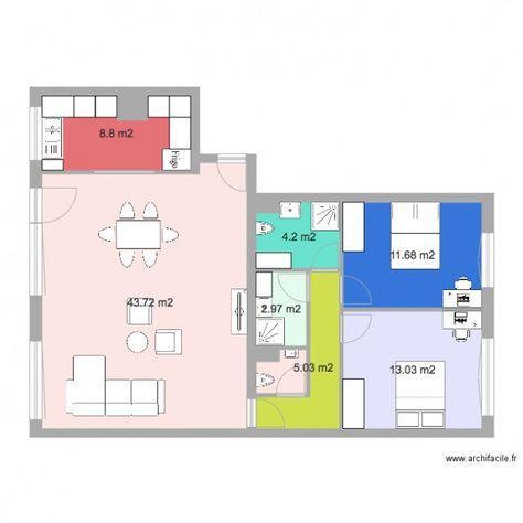 modifications woluw meubl plan de 7 pices et 89 m2 - Modification De Plan De Maison