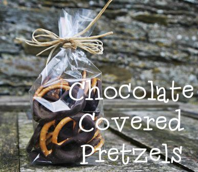 Sweet yet salty, chocolate covered pretzels are simple to make and area sweet little DIY foodie gift.  The Hedgecombers