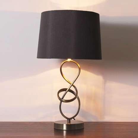 Calais Metal Twist Table Lamp Dunelm Lamp Table Lamp Side Table Lamps