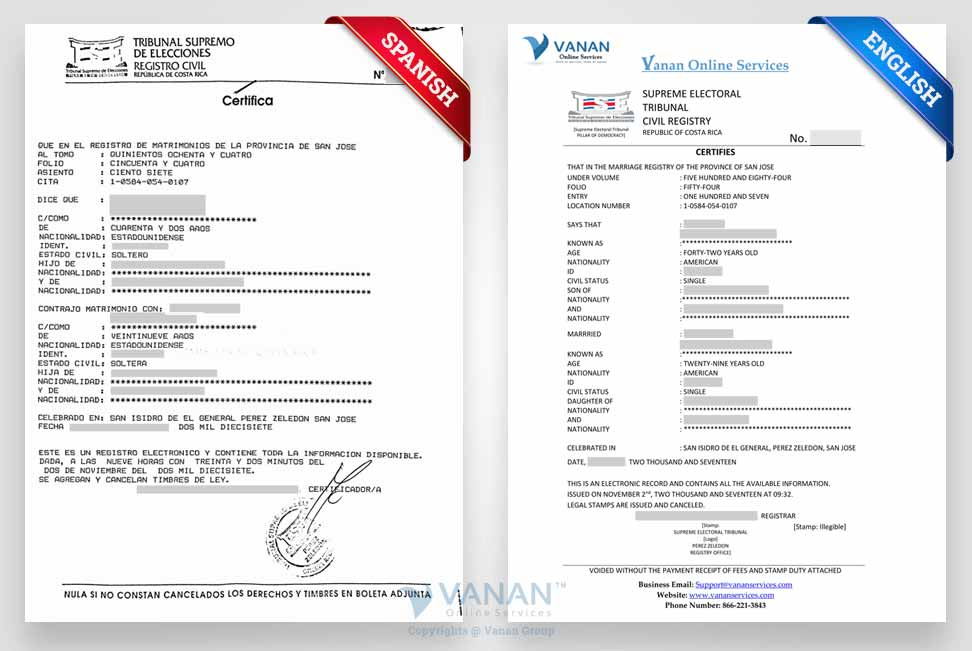 Marriage Certificate Translation From Spanish To English