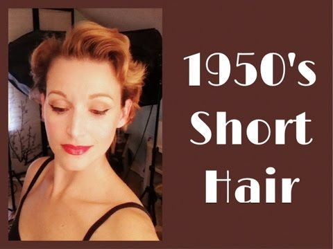1950 S Short Hairstyle Using A Roller Set Vintage Short Hair Short Hair Styles 1950s Hairstyles Short