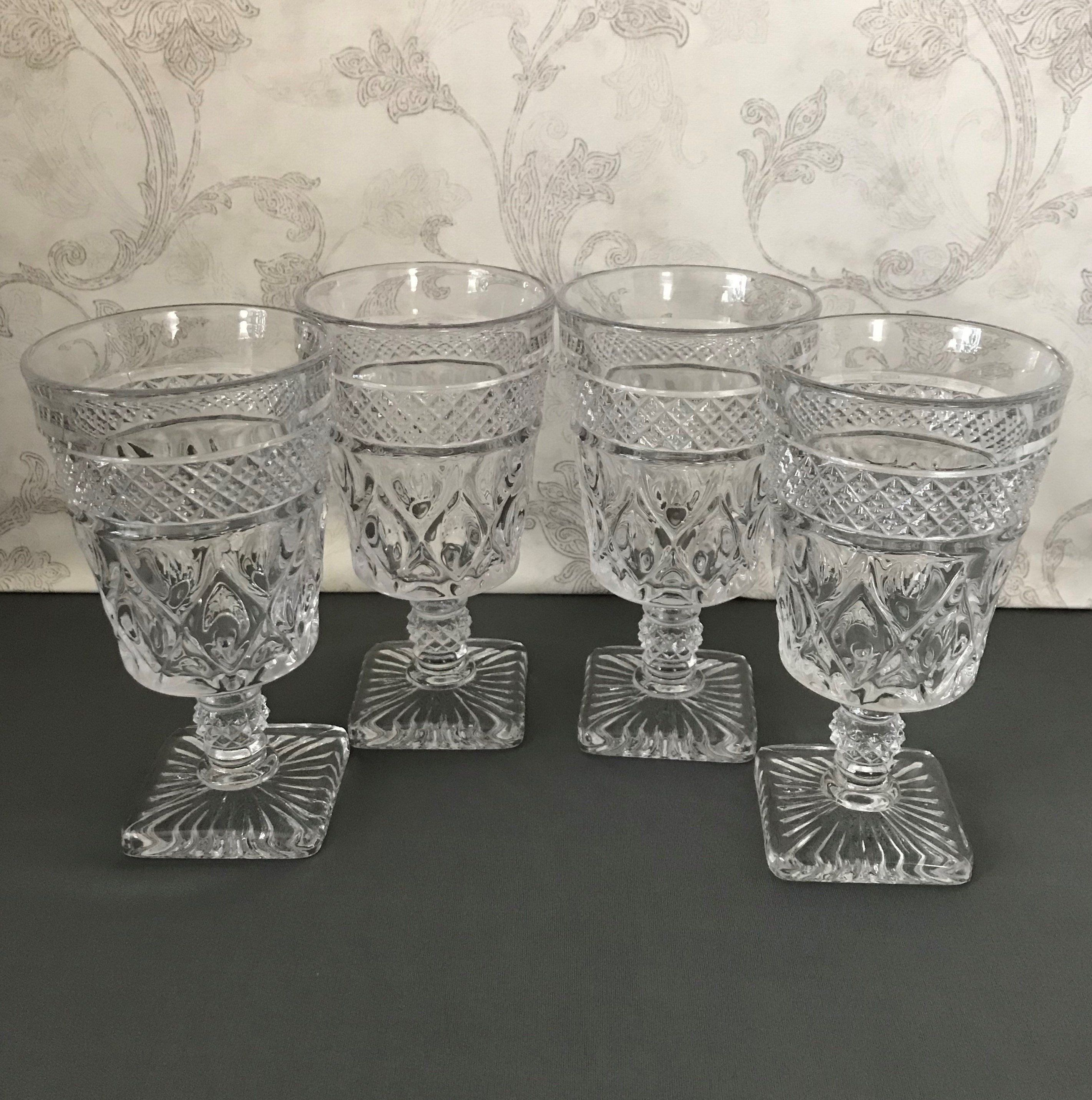 Set Of 4 Cape Cod Goblets 6 3 8 Water Glasses Cape Cod Imperial Glass Goblet Cape Cod