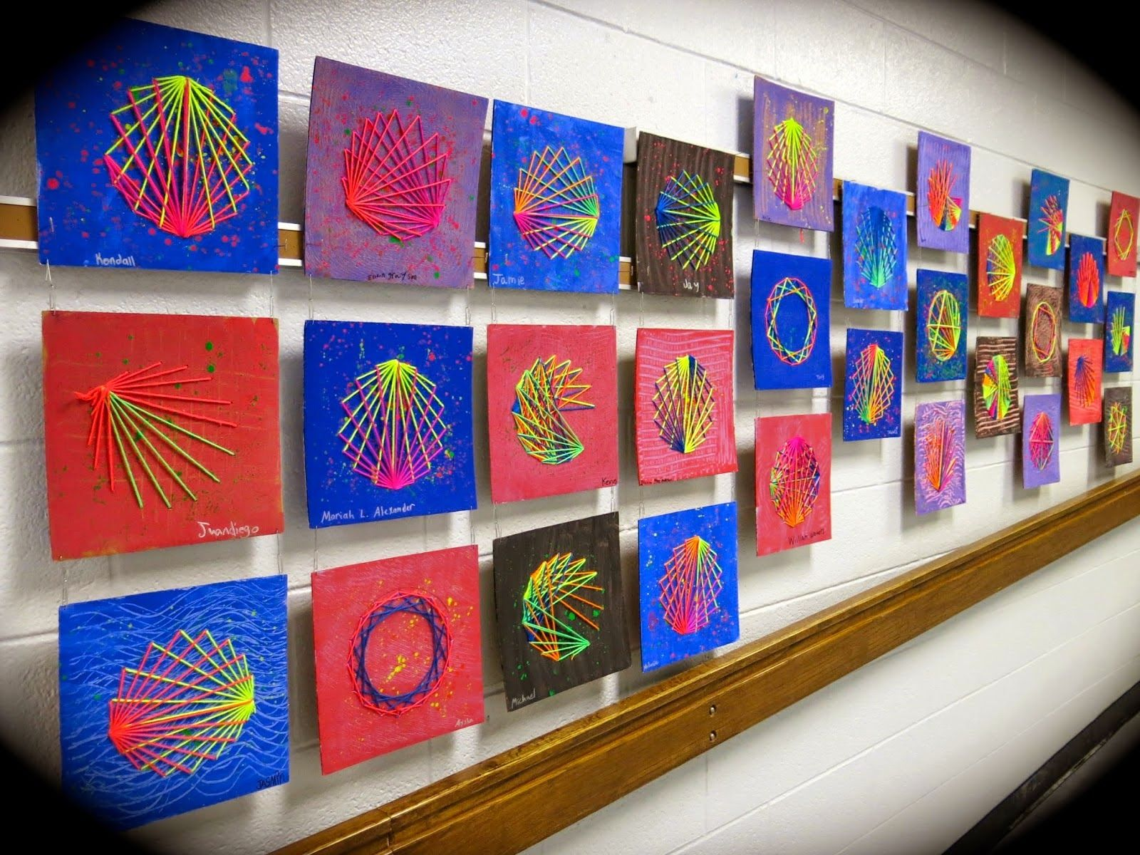 String Art With Elementary Kids My Blog