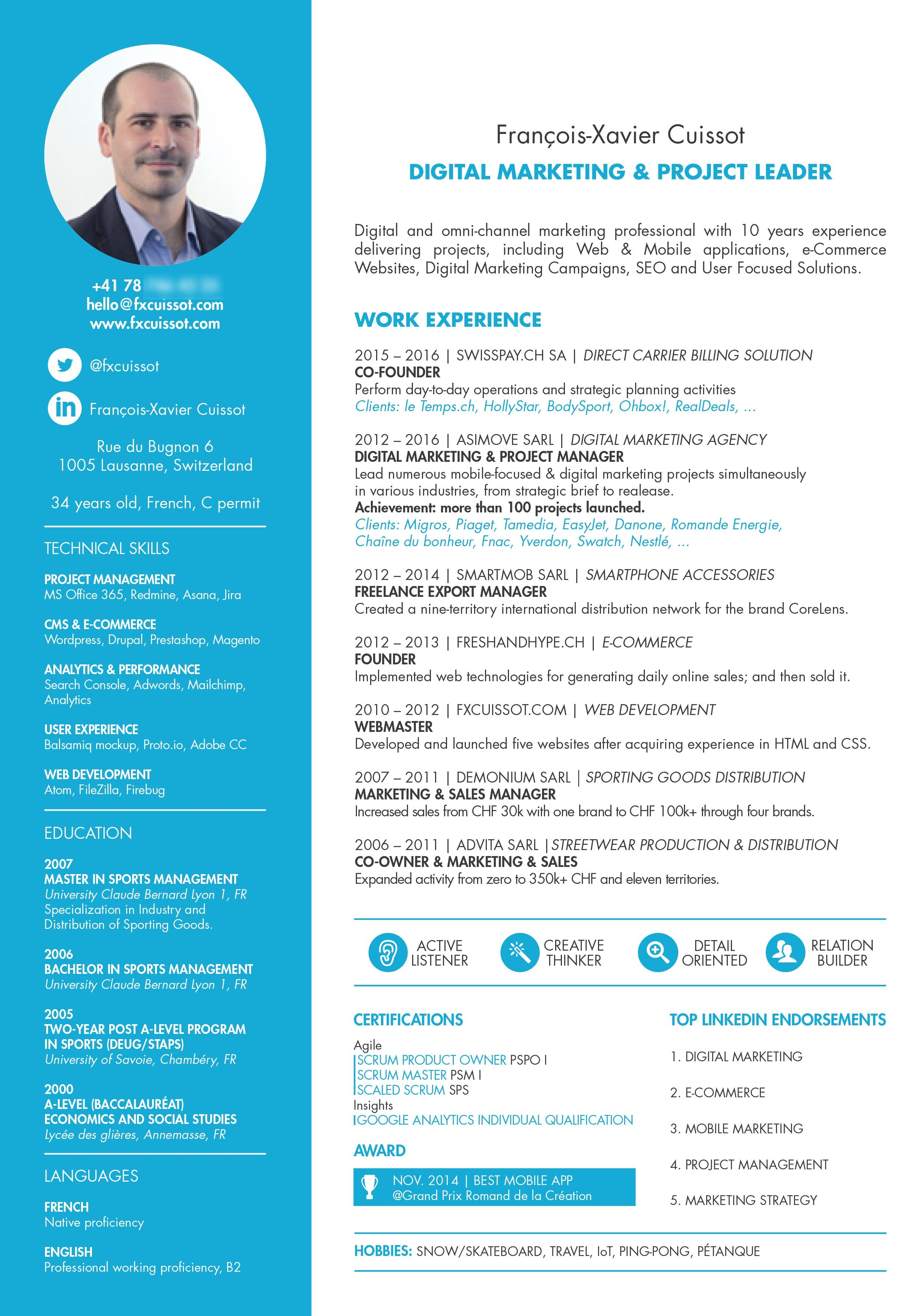 Digital Project Manager Resume Cv Project Manager Resume Manager Resume Marketing Resume